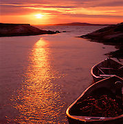 Dories At Sunset, Peggy's Cove