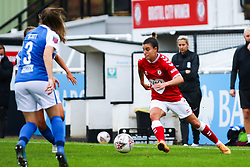 Chloe Logarzo of Bristol City Women dribbles with the ball- Mandatory by-line: Will Cooper/JMP - 18/10/2020 - FOOTBALL - Twerton Park - Bath, England - Bristol City Women v Birmingham City Women - Barclays FA Women's Super League