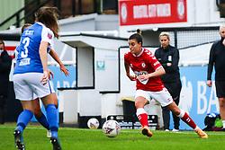 Chloe Logarzo of Bristol City Women dribbles with the ball- Mandatory by-line: Will Cooper/JMP - 18/10/2020 - FOOTBALL - Twerton Park - Bath, England - Bristol City Women v Birmingham City Women - Barclays FA Women's Super League