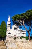 Croatie, Istrie, côte adriatique, Rovinj, la ville et la cathédrale Sainte-Euphémie // Croatia, Istria, old town of Rovinj, St Euphemy cathedral