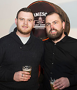 Paddy Egan and Shay Mahoney, Garavan's Bar at The Jameson The Black Barrel Craft Series  at Old printing works, Market Street with music by Corner boy.  Photo:Andrew Downes