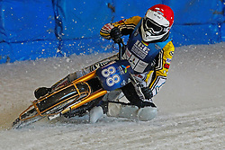 13.03.2016, Assen, BEL, FIM Eisspeedway Gladiators, Assen, im Bild Max Niedermaier (GER) // during the Astana Expo FIM Ice Speedway Gladiators World Championship in Assen, Belgium on 2016/03/13. EXPA Pictures © 2016, PhotoCredit: EXPA/ Eibner-Pressefoto/ Stiefel<br /> <br /> *****ATTENTION - OUT of GER*****