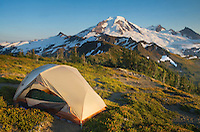 Backcountry campsite on Skyline Divide, Mount Baker Wilderness, North Cascades Washington