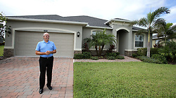 October 2, 2017 - Melbourne, FL, USA - Mick Anderson, who bought the Melbourne, Fla. house that he currently lives in from the previous owner, Las Vegas shooter Stephen Paddock, talks about learning that Paddock was responsbile for the mass killing, Monday, October 2, 2017. (Credit Image: © Joe Burbank/TNS via ZUMA Wire)