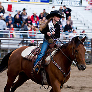 Darby Rodeo Association Lil Miss at the Darby Rodeo Association Broncs N Barrels event 2nd perf in Darby MT.  September 15, 2018.  Photo by Josh Homer/Burning Ember Photography.  Photo credit must be given on all uses.