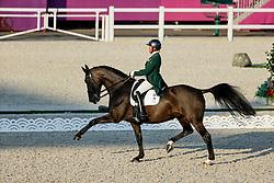 TOKYO - Olympische Spiele / Olympic Games 2021<br /> <br /> HOLSTEIN Heike (IRL), Sambuca<br /> Grand Prix de Dressage<br /> <br /> Tokio, Equestrian Park<br /> 25. July 2021<br /> © www.sportfotos-lafrentz.de/Stefan Lafrentz