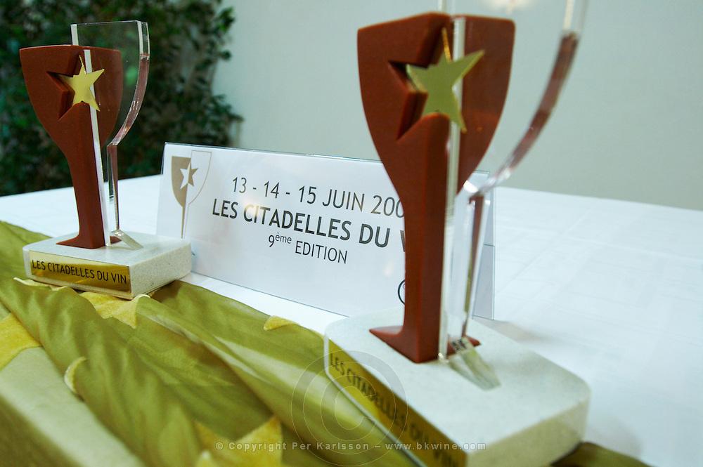 trophies wine competition Les Citadelles du Vin  bourg bordeaux france