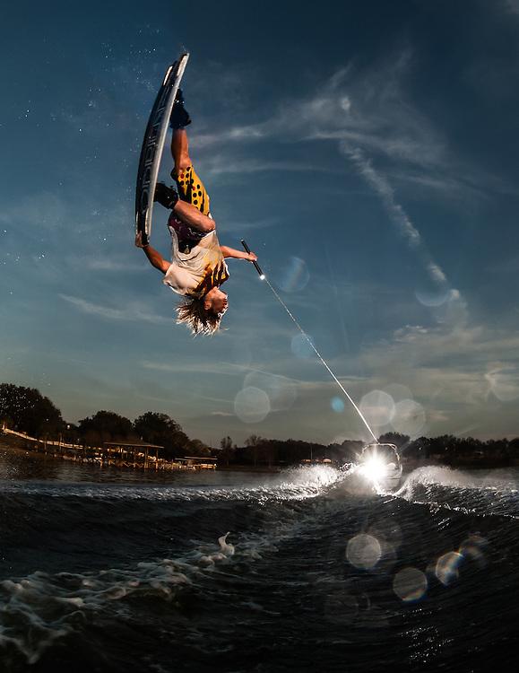 Gunnar Shuler shot for Transworld Wakeboarding in Orlando, Florida.