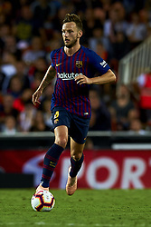 October 8, 2018 - Valencia, Valencia, Spain - Ivan Rakitic during the week 8 of La Liga match between Valencia CF and FC Barcelona at Mestalla Stadium in Valencia, Spain on October 7, 2018. (Credit Image: © Jose Breton/NurPhoto/ZUMA Press)