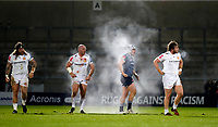 Rugby Union - 2020 / 2021 Gallagher Premiership - Sale vs Exeter - A J Bell Stadium<br /> <br /> Jack Yeandle of Exeter Chiefs and Sam Hill of Sale Sharks at AJ Bell Stadium <br /> <br /> Credit COLORSPORT/LYNNE CAMERON