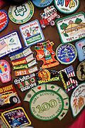 A collection of badges from Northeast Texas Troop 910 at the Girl Scouts of Northeast Texas.headquarters in Dallas, Texas, on January 10, 2013.  (Stan Olszewski/The Dallas Morning News)