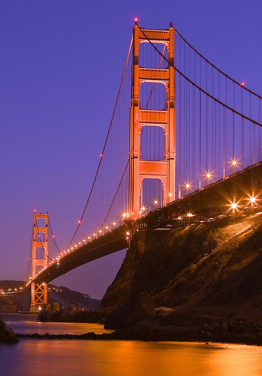 the golden gate bridge san francisco shot from fort baker in marin headlands