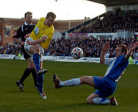 Photo: Jed Wee/Sportsbeat Images.<br /> Hartlepool United v Hereford United. Coca Cola League 2. 03/03/2007.<br /> <br /> Hereford's Steven Guinan (L) scores their second equaliser.