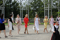 Brigitte Macron, wife of French President Emmanuel Macron, U.S. First Lady Melania Trump , Akie Abe, wife of Japan's Prime Minister Shinzo Abe, Chile's First Lady Cecilia Morel, Jenny Morrison, wife of Australia's Prime Minister Scott Morrison, and Malgorzata Tusk, wife of European Council President Donald Tusk walk in the garden of the Villa Arnaga, House-museum of Edmond Rostand, during a visit on traditional Basque culture in Combo-les-Bains, near Biarritz as part of the G7 summit, August 25, 2019. Photo by Thibaud Moritz/ABACAPRESS.COM