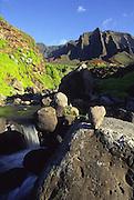 Kalalau stream, Napali coast, Kauai<br />