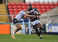 Rugby Union - 2020 / 2021 Gallagher Premiership - Leicester Tigers vs Bath - Welford Road<br /> <br /> Leicester Tigers' Nemani Nadolo is tackled by Bath Rugby's Jonathan Joseph<br /> <br /> COLORSPORT/ASHLEY WESTERN