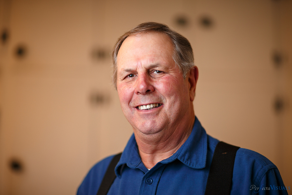 """Harry Mauney of Jenkins Foods. Liver mush processors Jenkins Foods and Mack's Liver Mush & Meats make pork liver mush that is known for its high quality in the rural countryside just outside the city  limits of Shelby, NC. The two companies, located about a mile from each, create 34,000 and 40,000 pounds of liver mush every week. Liver mush is a ground mixture of pork liver, corn meal and spices. It sometimes contains other pieces of the hog's head to provide flavor and texture. It is traditionally packed into a loaf pan, chilled and sliced before serving. The food got its start in the Depression-era and is  considered """"Southern weird"""" by some and a kitchen staple by others. Documented on Monday, December 8, 2014, in Shelby, N.C."""