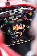 May 7, 2019: F1 Clienti Program at Sonoma Raceway. Ferrari 310B steering wheel detail