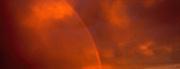Red Sky with Rainbow, Taos, NM, NR