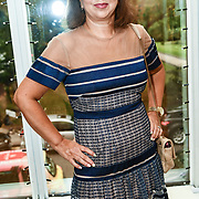 Marie Dawlatly attend the London Arabia Art & Fashion Week 2019 at Jumeirah Carlton Tower, on 5 August 2019, London, UK.