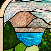 """Julia Whiting Memorial window,"" ca.1967. Church of Our Father, Hulls Cove."