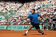 Paris, France. June  1st 2009. .Roland Garros - Tennis French Open. .French player Jo Wilfried Tsonga against Juan Martin Del Potro