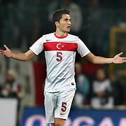 Turkey's Nuri Sahin during their a international friendly soccer match Turkey betwen Slovakia at Ataturk stadium in Bursa February 29, 2012. Photo by TURKPIX
