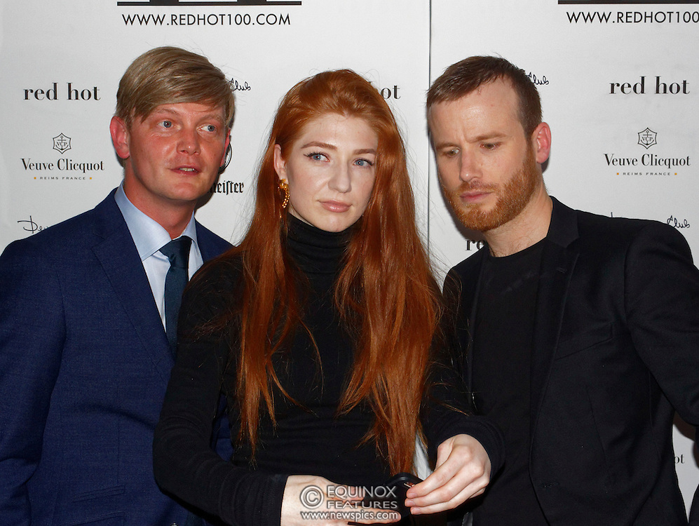 London, United Kingdom - 14 October 2016<br /> Ginger haired Girls Aloud singer Nicola Roberts who modelled for the book with Thomas and Elliott. The launch of Red Hot II book, a photographic project by photographer Thomas Knights and creative director Elliott James Frieze celebrating red-heads in support of Diana anti-bullying charity, Devonshire Club, London, England, UK.<br /> www.newspics.com/#!/contact<br /> (photo by: EQUINOXFEATURES.COM)<br /> Picture Data:<br /> Photographer: Equinox Features<br /> Copyright: ©2016 Equinox Licensing Ltd. +448700 780000<br /> Contact: Equinox Features<br /> Date Taken: 20161014<br /> Time Taken: 21123835<br /> www.newspics.com