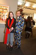LAURA MAGILL; GOERGE BUNKER, Preview for the London Art Fair,  Islington Business Design Centre. London. 13 January 2014