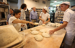 Governor Rick Scott talks with Remi Tremolet, CEO of Zak the Baker Bakery in Wynwood, FL, USA., as he visits area businesses Thursday morning, August 4, 2016 talking to businesses owners regarding Zika. Photo by Emily Michot/Miami Herald/TNS/ABACAPRESS.COM