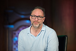"""© Licensed to London News Pictures. 05/07/2017. London, UK. Wikipedia founder JIMMY WALES in conversation with comedian Stewart Lee at the Emmanuel Centre in Westminster . The event , titled """" Heroes """" and organised by the School of Life , sees a guest interviewer (Wales) select and interviews someone whose work they admire (Lee) . Stewart Lee is currently touring his Content Provider show and Jimmy Wales is in the process of setting up news website WikiTribune . Photo credit: Joel Goodman/LNP"""