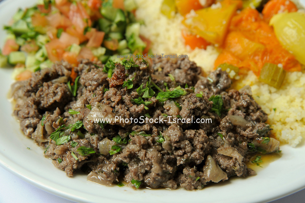 Couscous with vegetables and lamb