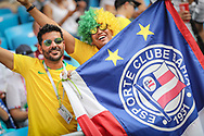 Fans of Brazil during the 2018 FIFA World Cup Russia, round of 16 football match between Brazil and Mexico on July 2, 2018 at Samara Arena in Samara, Russia - Photo Thiago Bernardes / FramePhoto / ProSportsImages / DPPI