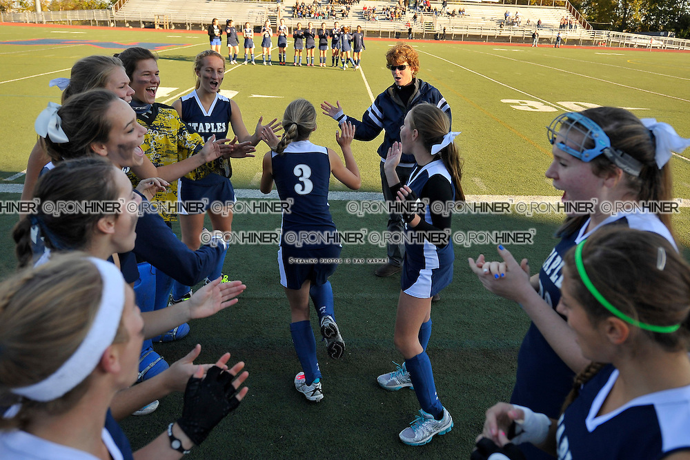 Staples High School Field Hockey.Staples defeats Wilton 2-1 in FCIAC finals..Shelby Phares
