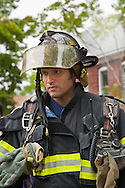 Portrait of a firefighter.