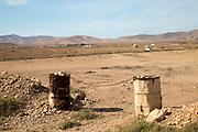 Arid countryside landscape near Tefia, Fuerteventura, Canary Islands, Spain