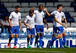 Jermaine Beckford of Bury celebrates after scoring his sides first goal  - Mandatory by-line: Matt McNulty/JMP - 16/07/2017 - FOOTBALL - Gigg Lane - Bury, England - Bury v Huddersfield Town - Pre-season friendly