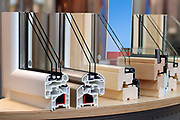 Window frames for thermo-acoustic insulation with double glazing