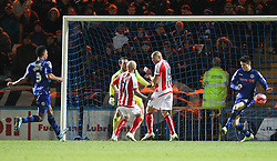 Stoke City's Stephen Ireland scores the second goal - Photo mandatory by-line: Matt McNulty/JMP - Mobile: 07966 386802 - 26/01/2015 - SPORT - Football - Rochdale - Spotland Stadium - Rochdale v Stoke City - FA Cup Fourth Round