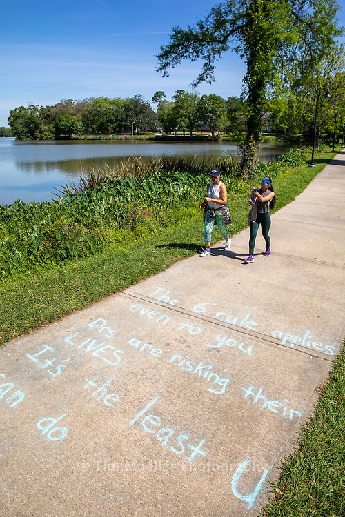With the Stay at Home order issued by Governor John Bel Edwards and with more spare time, many Baton Rouge residents are walking, running and biking throughout the community.