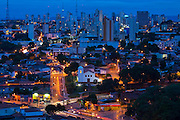 Cuiaba_MT, Brasil...Centro historico em Cuiaba a noite, Mato Grosso. Na foto Igreja do Rosario e Sao Benedito em Cuiaba, Mato Grosso...The historical center in Cuiaba at night, Mato Grosso. In this photo Rosario and Sao Benedito church in Cuiaba, Mato Grosso. ..Foto: JOAO MARCOS ROSA / NITRO.....