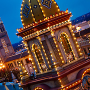 Kansas City's Plaza Lights and Giralda Tower on a Saturday evening.