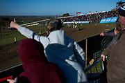 Max Anstie gets some support from the reasonable-sized crowd. Surely many were worried about a mud bath in late March.