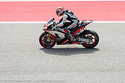 The start of the MotoGP at Circuit of the Americas on Sunday during the Handbuilt Motorcycle Show weekend. Austin, TX. April 12, 2015.  Photography ©2015 Michael Lichter.