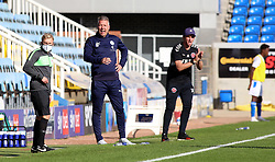 Peterborough United Manager Darren Ferguson watches on alongside Fleetwood Town manager Joey Barton - Mandatory by-line: Joe Dent/JMP - 19/09/2020 - FOOTBALL - Weston Homes Stadium - Peterborough, England - Peterborough United v Fleetwood Town - Sky Bet League One