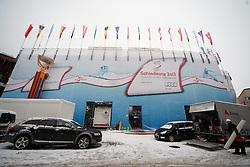 29.01.2013, Schladming, AUT, FIS Weltmeisterschaften Ski Alpin, Schladming 2013, Vorberichte, im Bild die Rückseite der Zuschauertribünen nahe Hohenhaus Tenne am 29.01.2013 // backside of the visitors tribunes near Hohenhaus Tenne on 2013/01/29, preview to the FIS Alpine World Ski Championships 2013 at Schladming, Austria on 2013/01/29. EXPA Pictures © 2013, PhotoCredit: EXPA/ Martin Huber