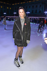 AMBER LE BON at Skate at Somerset House in association with Fortnum & Mason held on 10th November 2014.
