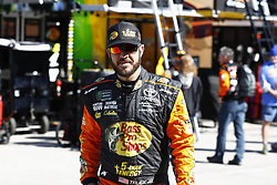 March 2, 2018 - Las Vegas, Nevada, United States of America - March 02, 2018 - Las Vegas, Nevada, USA: Martin Truex Jr (78) hangs out in the garage during practice for the Pennzoil 400 at Las Vegas Motor Speedway in Las Vegas, Nevada. (Credit Image: © Justin R. Noe Asp Inc/ASP via ZUMA Wire)