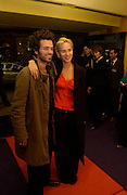 romain duris and Judith godreche, Renault French Film tour launches with a screening at the UGC Haymarket, Kensington Palace Gdns, 5 March 2003. © Copyright Photograph by Dafydd Jones 66 Stockwell Park Rd. London SW9 0DA Tel 020 7733 0108 www.dafjones.com