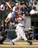 CHICAGO - MAY 05:  Andrew Benintendi #16 of the Boston Red Sox bats against the Chicago White Sox on May 5, 2019 at Guaranteed Rate Field in Chicago, Illinois.  (Photo by Ron Vesely)  Subject:  Andrew Benintendi